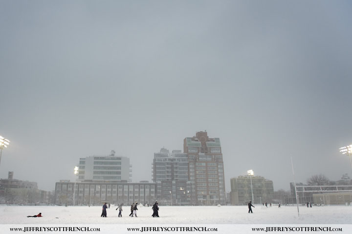 Snow Storm in McCarren Park, Brooklyn, NY